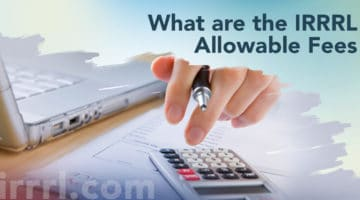 What are the IRRRL Allowable Fees